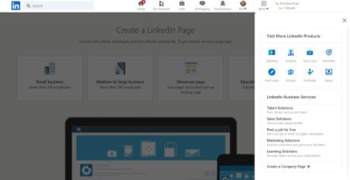 How to create a LinkedIn Business Page Step 1