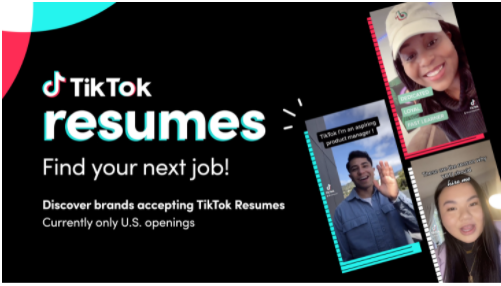 TikTok Launches 'Resumes' to help connect candidates with job opportunities
