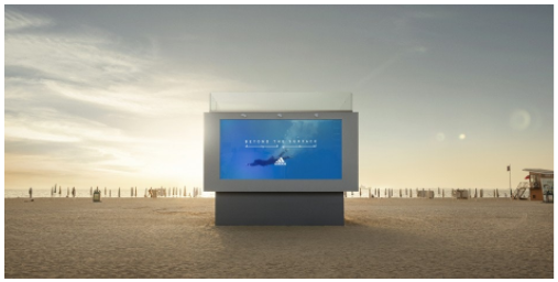 Adidas creates swimmable billboard to launch inclusive swimwear collection