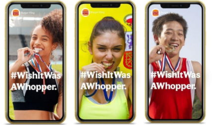 Wish it was a Whopper? Burger King plays on iconic gold medal bite in marketing stunt