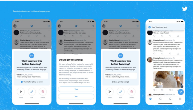 Offensive alerts from twitter