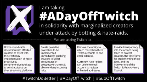 #ADayOffTwitch protest makes a deep cut into Twitch viewership