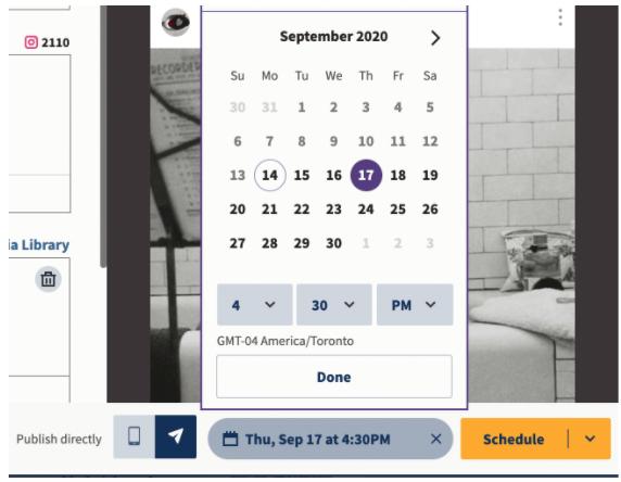 Schedule your content - schedule instagram post